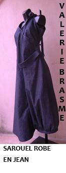 sarouel-robe, jean, vêtement japonisant